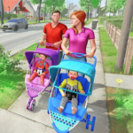 Virtual Mother New Baby Twins Family Simulator MOD Unlimited Money 2.1.8