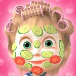 Masha and the Bear Hair Salon and MakeUp Games MOD Unlimited Money 1.2.4