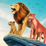 The Lion Simulator Animal Family Game MOD Unlimited Money