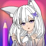Animated Glitter Coloring Book – Anime Manga MOD Unlimited Money