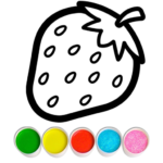 Fruits and Vegetables Coloring Game for Kids MOD Unlimited Money